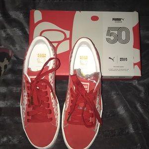 Puma Suede ClassicxHello Kitty shoes